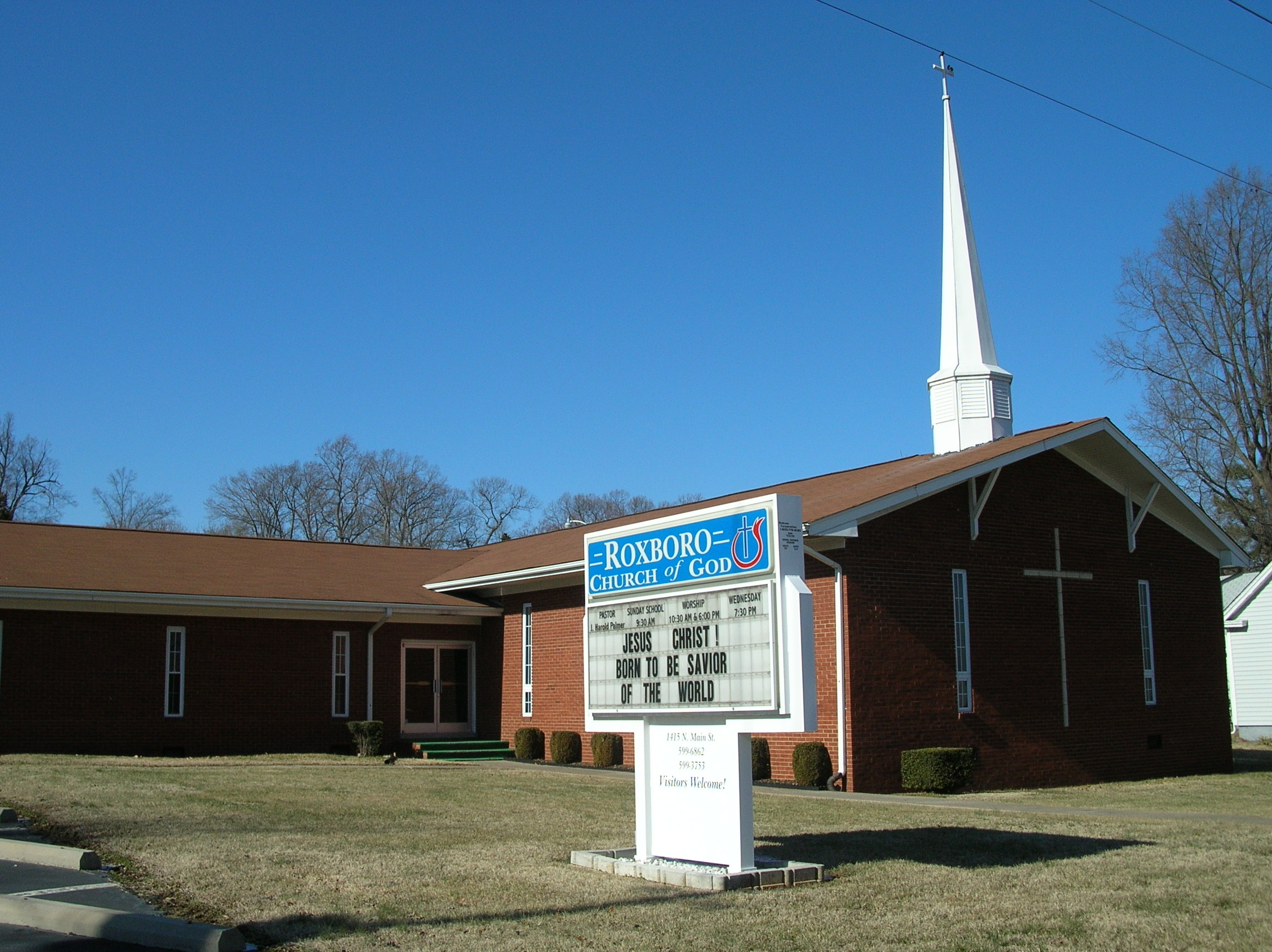 Roxboro church of god